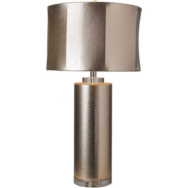 Tiburon Table Lamp with Gold Base and Gold Shade