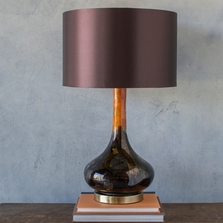 Carme Table Lamp with Brown Base and Brown Shade