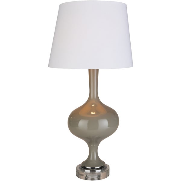 Vihogaa Table Lamp with Grey Base and White Shade