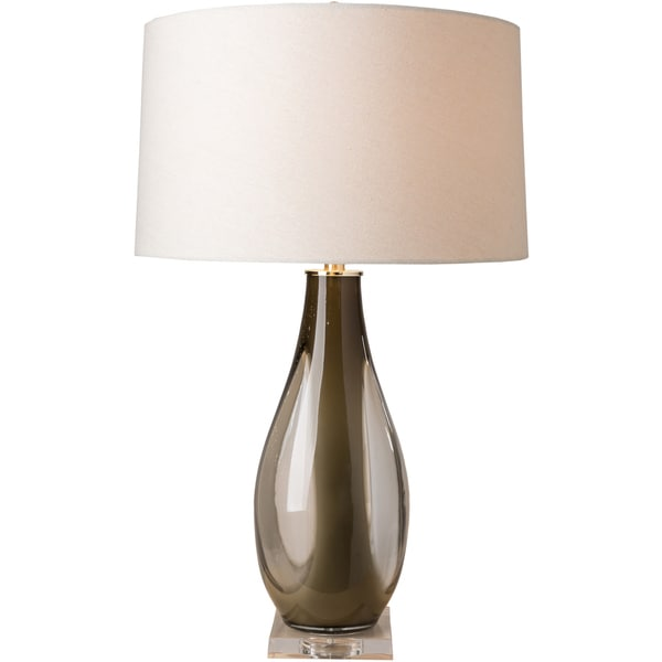 Shiloh Table Lamp with Brown Base and Off-White Shade