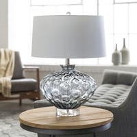 Rosalind Table Lamp with Black/Clear Base and White Shade