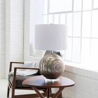 Gouni Table Lamp with Silver Base and White Shade