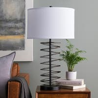 Rukri Table Lamp with Black Base and White Shade