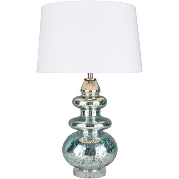 Phaeheri Table Lamp with Blue Base and White Shade