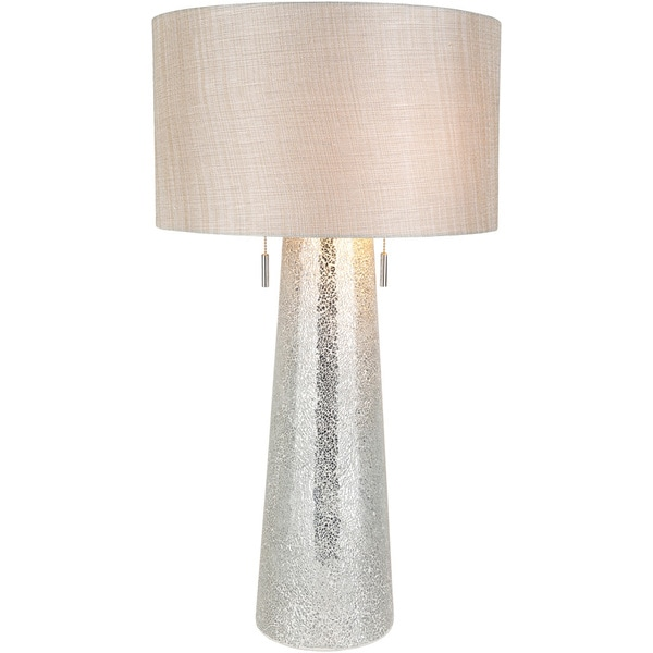 Mokior Table Lamp with Grey/Clear Base and Grey Shade
