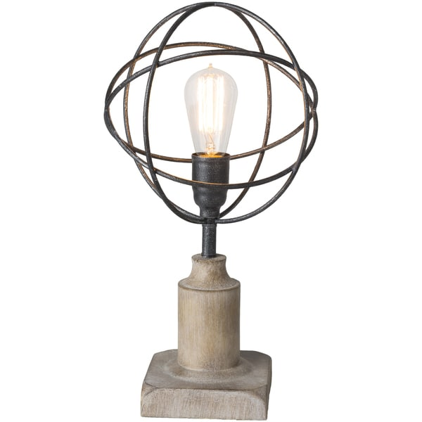 Olmorts Table Lamp with Brown Base and Silver Shade
