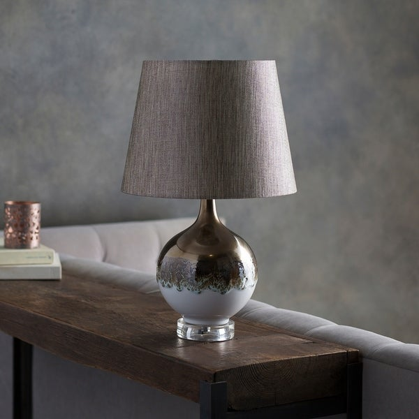 Pamell Table Lamp with Gold Base and Tan Shade
