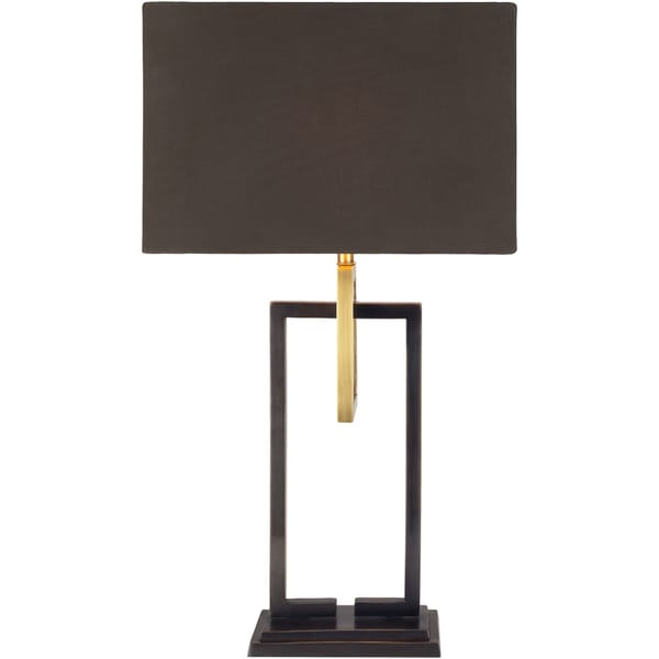 Terelle Table Lamp with Brown Base and Brown Shade