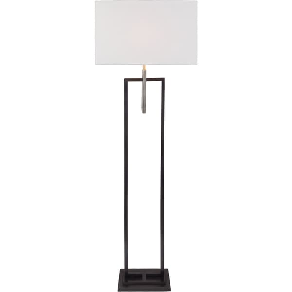 Avrette Table Lamp with Brown Base and White Shade