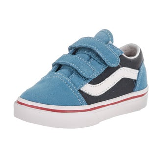 Vans Toddlers' Old Skool V (2Tone) Blue Canvas Skate Shoes