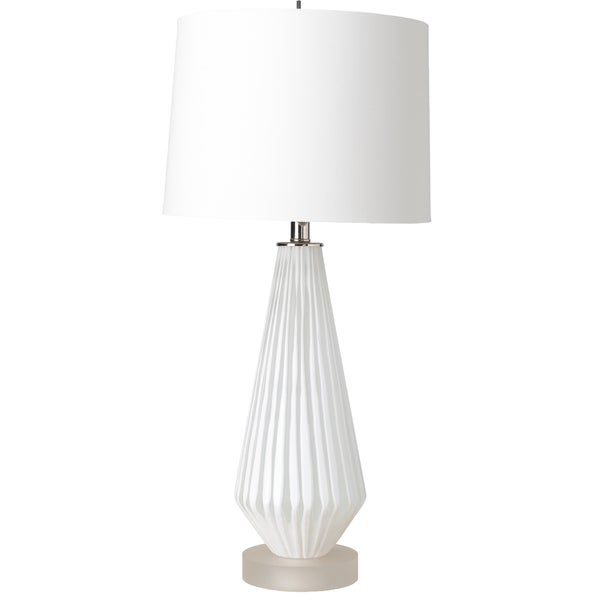 Brannock Table Lamp with White Base and White Shade