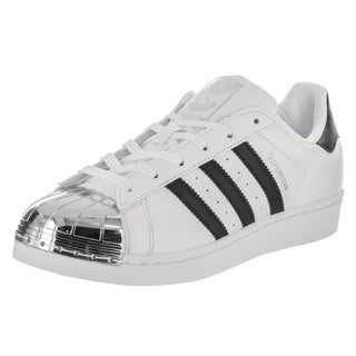 Adidas Women's Superstar Metal Toe Originals White Synthetic-leather Basketball Shoes