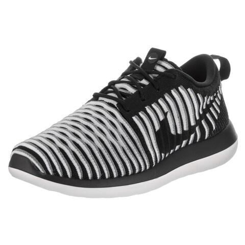 Nike Women's Roshe Two Flyknit Black Textile Running Shoes