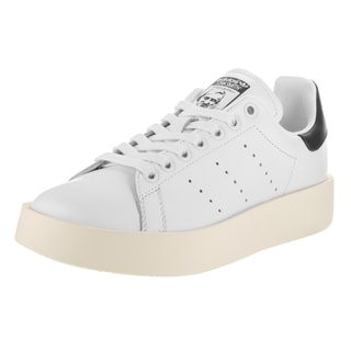 Adidas Women's Stan Smith Bold Originals White Synthetic Leather Casual Shoe