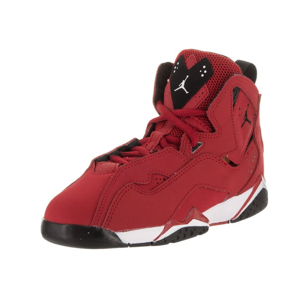 finest selection c95c9 454dc Shop Nike Boys' Jordan True Flight Bp Red Nubuck Basketball ...