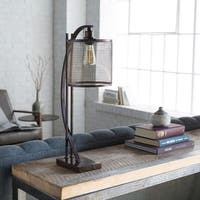 Kelly Table Lamp with Brown Base and Brown Shade