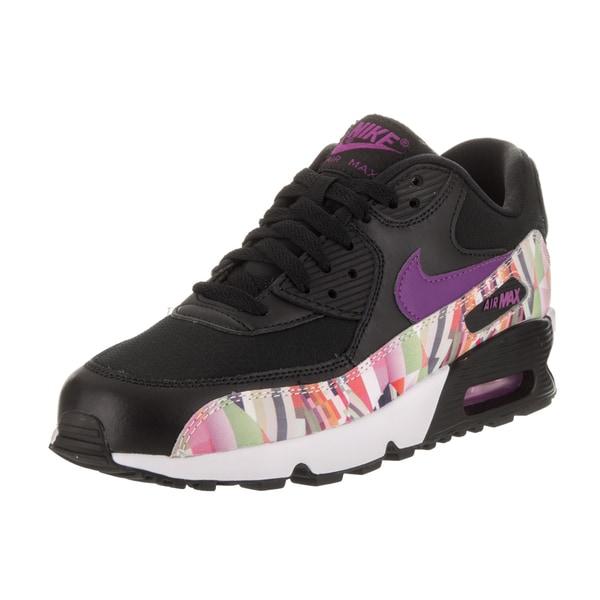 Shop Nike Kids Air Max 90 Print Mesh GS Running Shoe Free