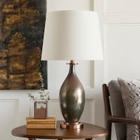 Colette Table Lamp with Brown Base and White Shade