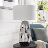 Aspley Table Lamp with Brown Base and White Shade
