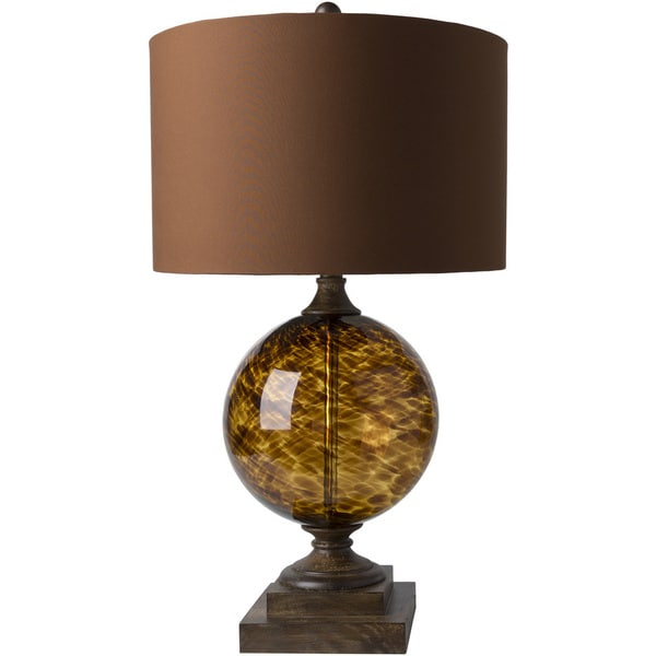 Rimbey Table Lamp with Brown Base and Brown Shade