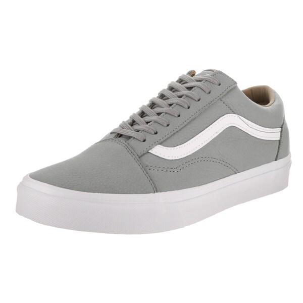 94c1cf8058 Shop Vans Unisex Old Skool Grey Premium Leather Skate Shoe - Free ...