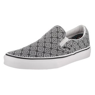 Vans Unisex Black/White Classic Slip On Skate Shoe