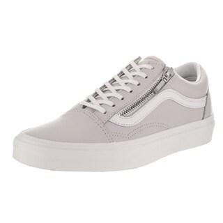 Vans Unisex Old Skool Zip Grey Leather Skate Shoes