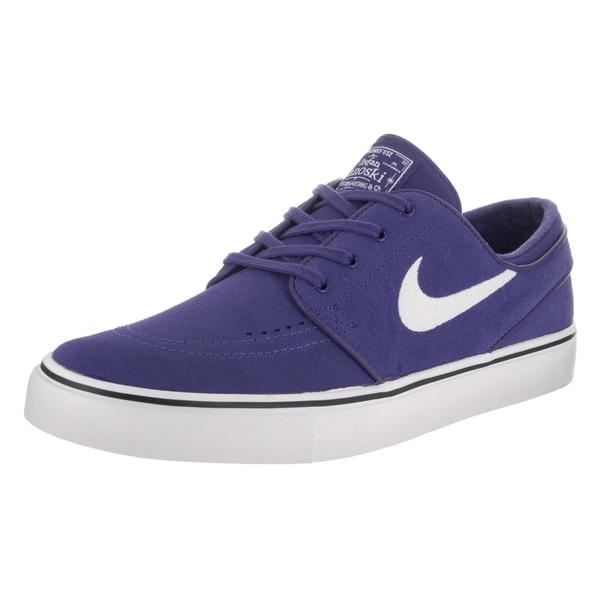 newest collection e3d2d d075f Nike Men  x27 s Zoom Stefan Janoski Blue Suede Skate Shoes