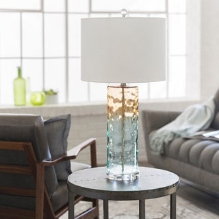 Caragana Table Lamp with Clear Base and White Shade