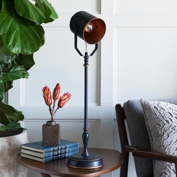 Jaellae Dark Bronze Adjustable Shade Metal Table Lamp