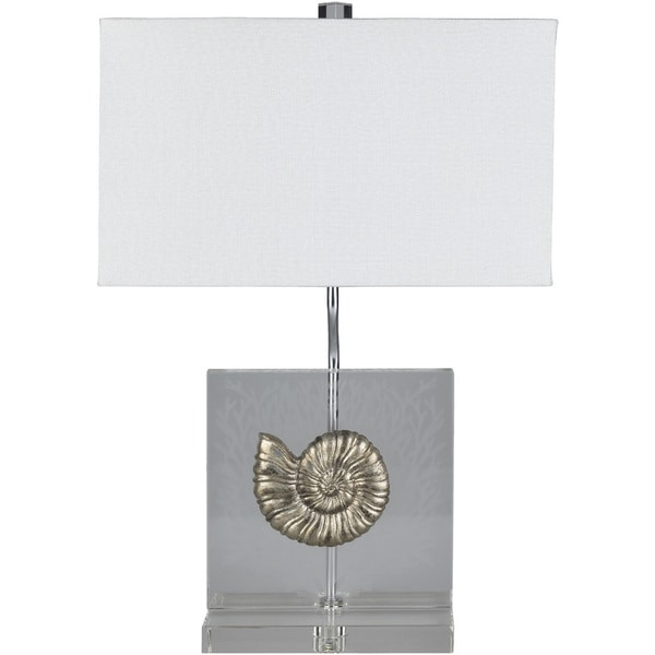Nahro Table Lamp with Gold Base and White Shade