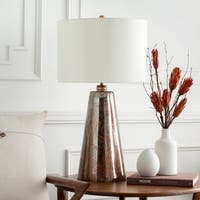 Steil Table Lamp with Brown Base and White Shade
