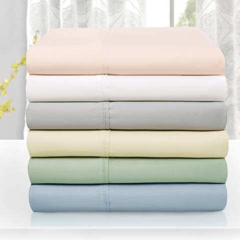 Miranda Haus 600-Thread Count Tencel and Polyester Solid Bed Sheets