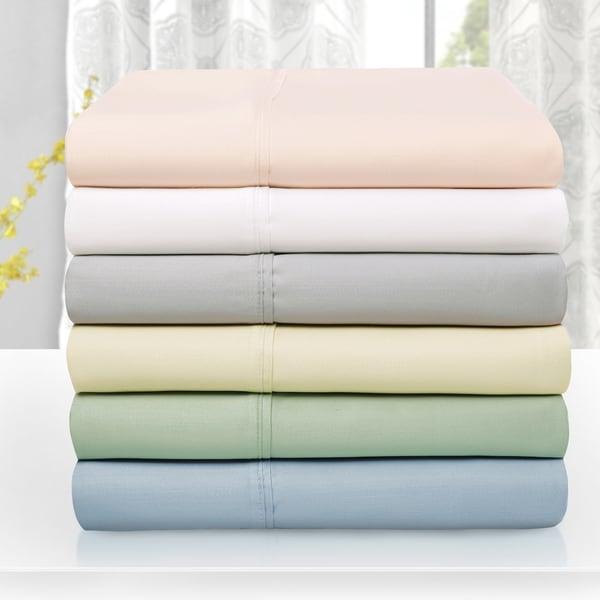 Superior 600 Thread Count Wrinkle Resistant Soft Tencel Blend Sheet Set