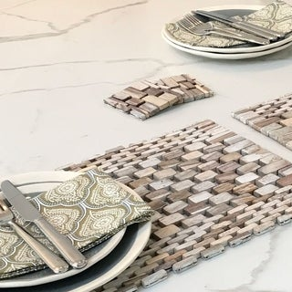 Hip-O Modern Living White Wash Rosewood Placemat (Set of 2)