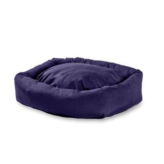 Happy Hounds Max Navy Rectangle Indoor/Outdoor Bumper Dog Bed