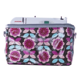 Janome Small Sewing Machine Tote Bag in Vinvyl Material with Polka Dot Print