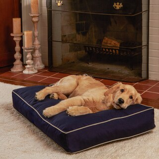 Happy Hounds Casey Navy Rectangle Indoor/Outdoor Dog Bed