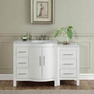 Silkroad Exclusive 53.5-inch Contemporary Bathroom Vanity Single Sink Cabinet