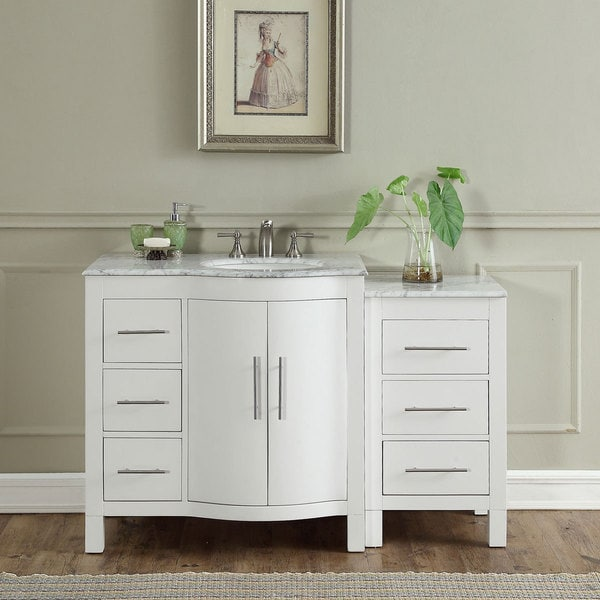 Shop Silkroad Exclusive Inch Contemporary Bathroom Vanity - Contemporary bathroom furniture cabinets