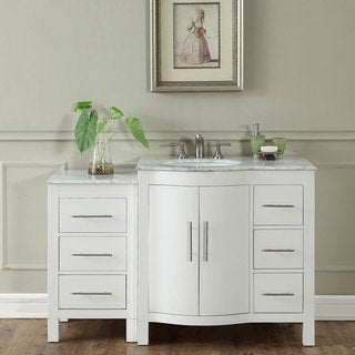 "Silkroad Exclusive 53.5"" Contemporary Bathroom Vanity Single Sink Cabinet"
