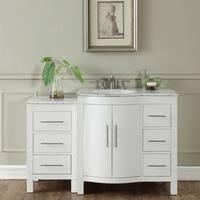 """Silkroad Exclusive 53.5"""" Contemporary Bathroom Vanity Single Sink Cabinet"""