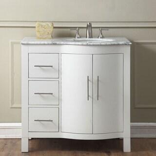 Silkroad Exclusive 36-inch Contemporary Bathroom Vanity Single Sink Cabinet