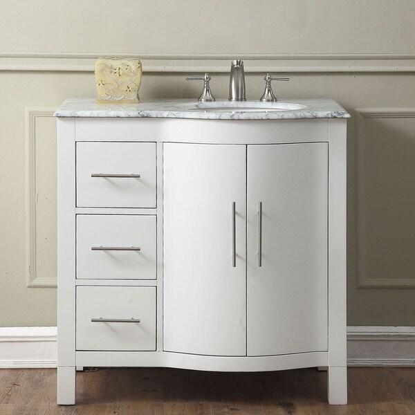 Silkroad Exclusive 36-inch Contemporary Bathroom Vanity Single Sink Cabinet. Opens flyout.