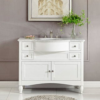 45 Inch Bathroom Vanities alya bath ripley collection 47-inch single modern bathroom vanity