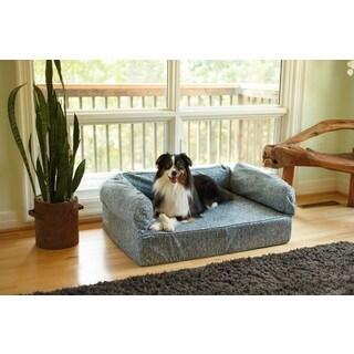 Snoozer Premium Palmer Indigo Memory Foam Pet Sofa