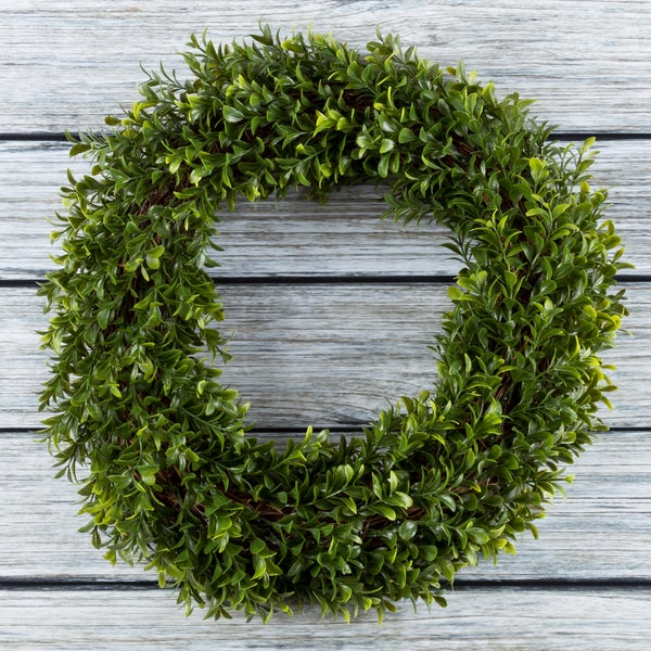 Artificial Hedyotis 15 inch Round Wreath by Pure Garden. Opens flyout.