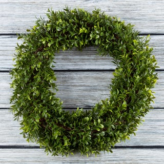 Artificial Hedyotis 15 inch Round Wreath by Pure Garden