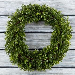 Artificial Hedyotis 15 Inch Round Wreath By Pure Garden