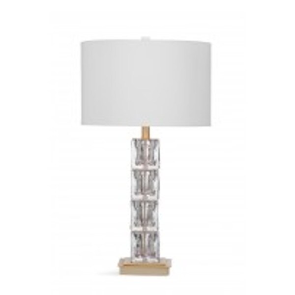 Claudette Clear and Brown Natural Material 29-inch Table Lamp